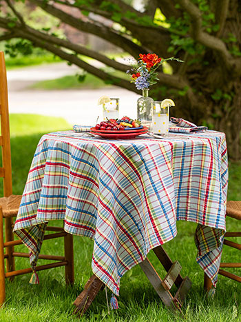 Picnic Seersucker Tablecloth
