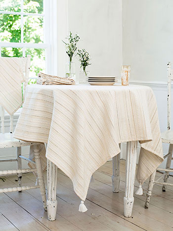Ribbon Lace Stripe Tablecloth