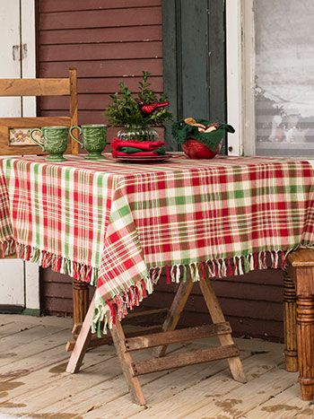 Yuletide Plaid Tablecloth