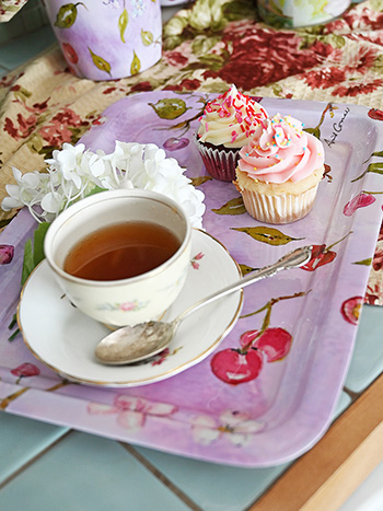 Cherries Teatime Tray