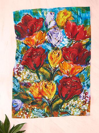 Always Roses Tea Towel