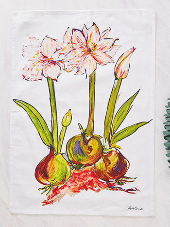 Amaryllis Tea Towel