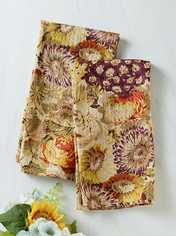 Autumn Gathering Tea Towel Set of 2