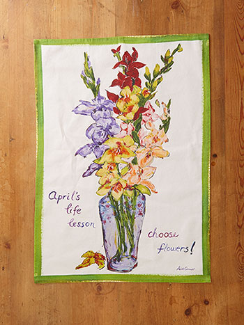 Choose Flowers Tea Towel