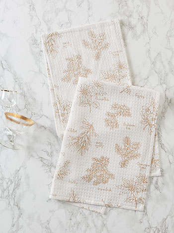 Christmas Botanical Tea Towel Set of 2