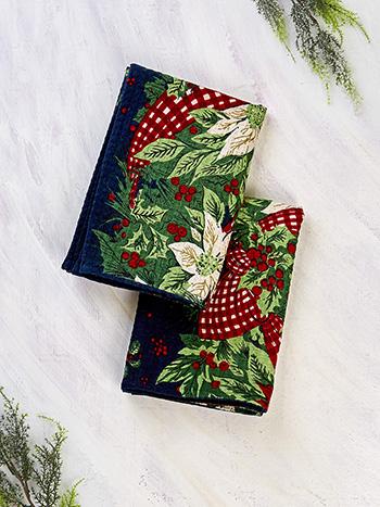 Christmas Cottage Tea Towel Set of 2