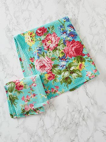 Cottage Rose Tea Towel Set of 2