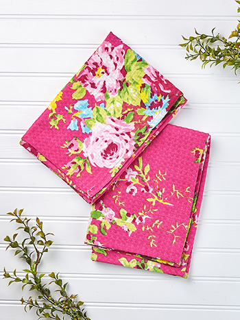 Cottage Rose Tea Towel Set of 2