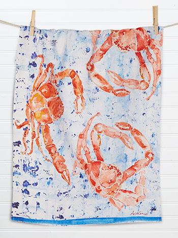 Crabs Tea Towel