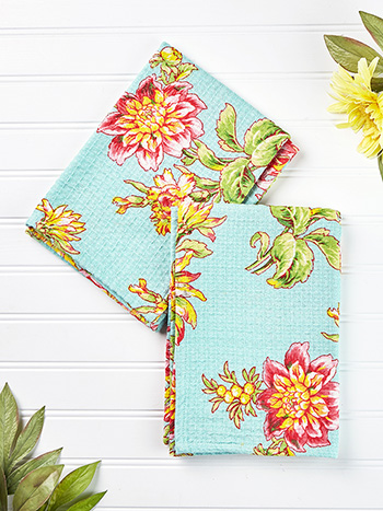 Dahlia Days Tea Towel Set of 2