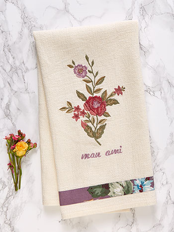Keepsake Embroidered Tea Towel