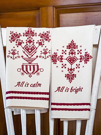 Lucia Embroidered Tea Towel Set of 2