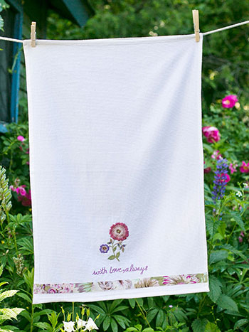 Rosemary's Embroidered Tea Towel