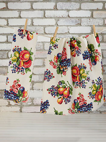 Fruit Basket Tea Towel