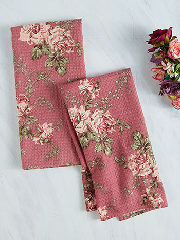 Gloria Rose Tea Towel Set of 2