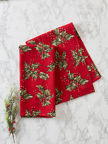 Holly Tea Towel Set of 2