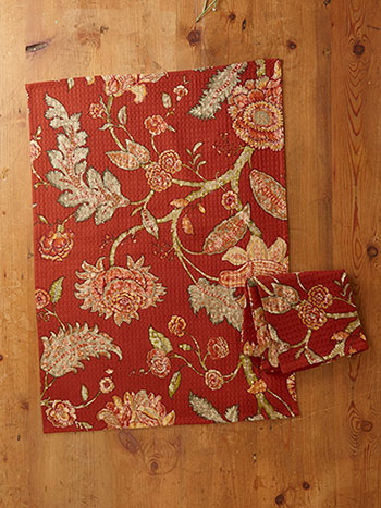 Jacobean Garden Tea Towel S/2