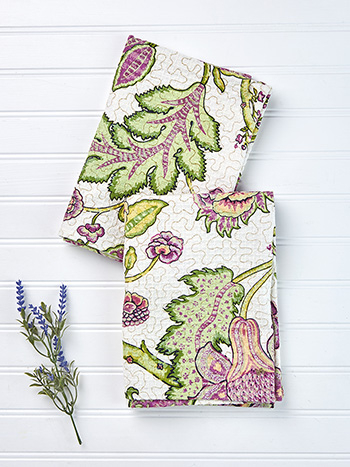 Jacobean Garden Tea Towel Set of 2