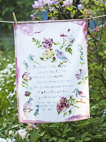Mother's Poem Tea Towel