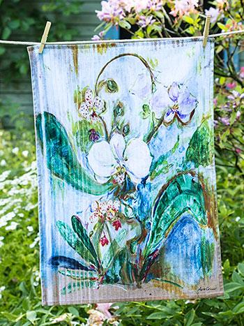 Orchid Study Tea Towel