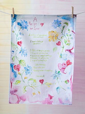 Recipe for Love Tea Towel