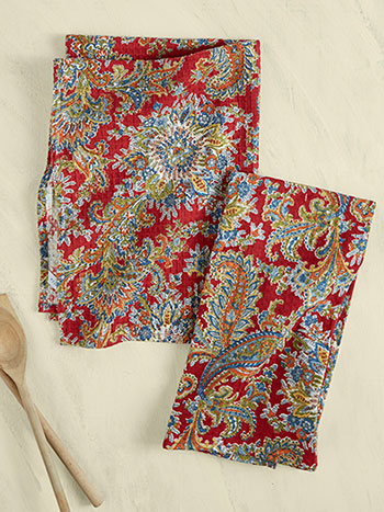 Rhapsody Paisley Tea Towel Set of 2