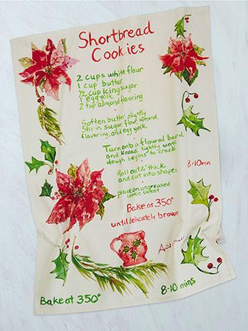 Shortbread Cookie Watercolor Tea Towel