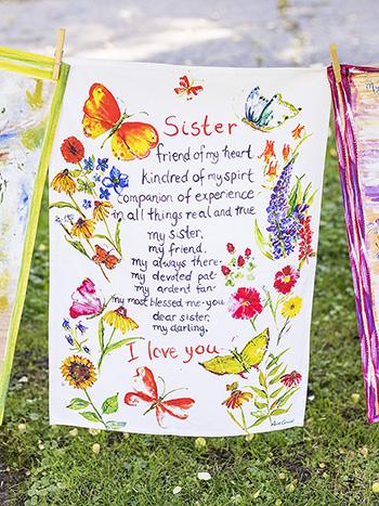 Sister Poem Tea Towel
