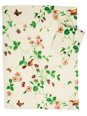Strawberry Fields Tea Towel Set of 2