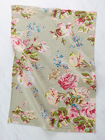 Victorian Rose Tea Towel Set of 2