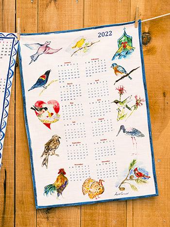 A Year in Birds Tea Towel