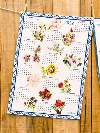 A Year in Flowers Tea Towel