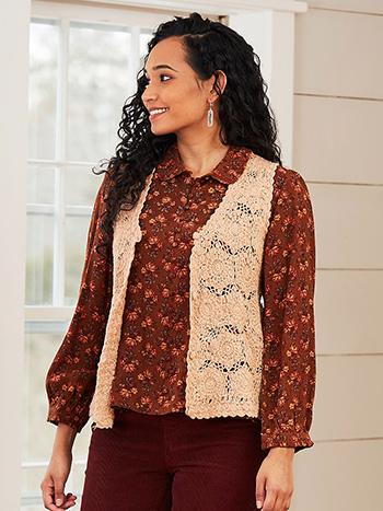 Vintage Crochet Vest