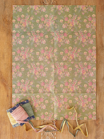 Victorian Rose Wrapping Paper Set of 6