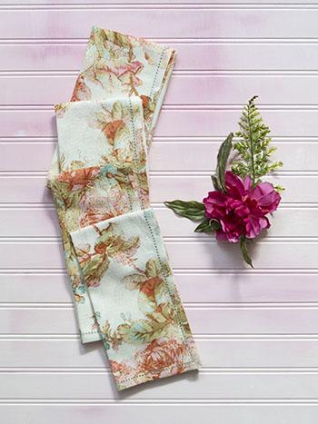 Victorian Rose Napkin Set of 4