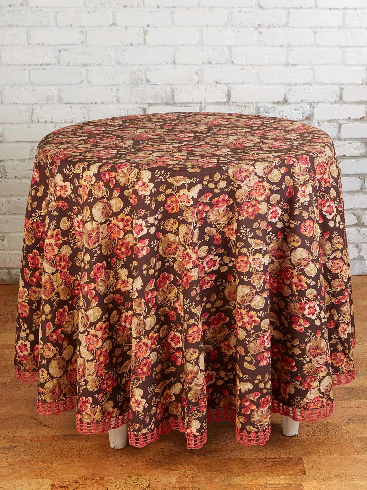Nasturtium Crochet Round Tablecloth