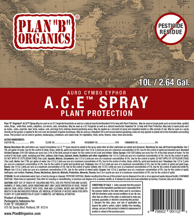 ACE Spray Product Label