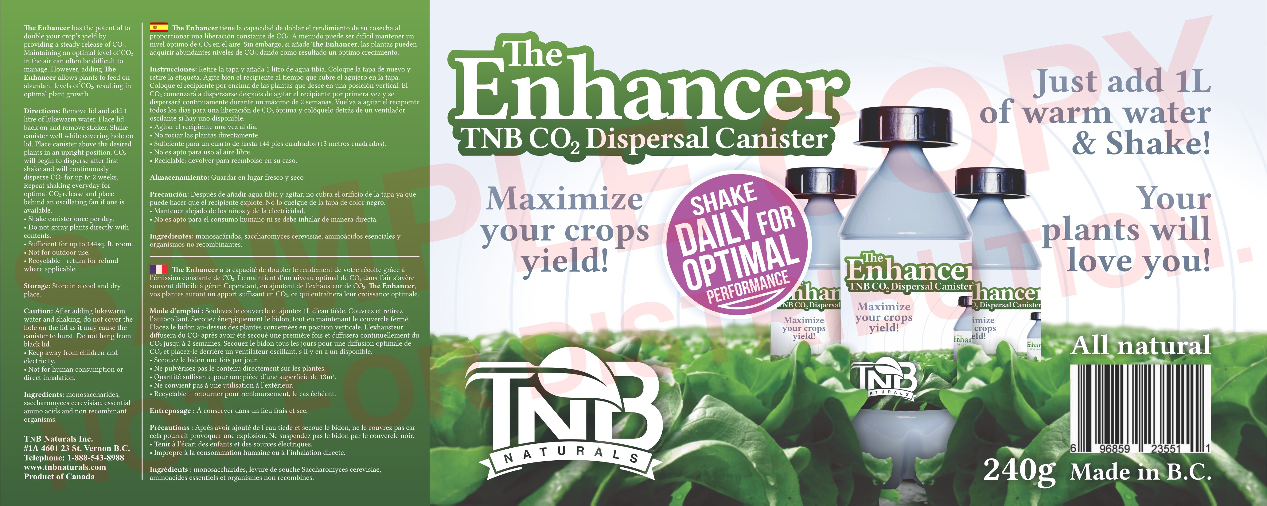 The Enhancer Product Label