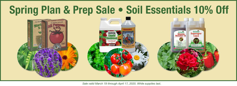 Spring Plan & Prep Sale