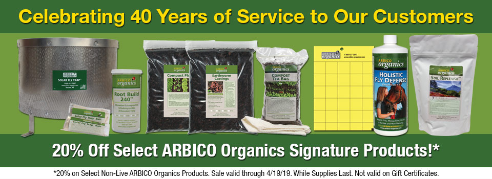 Save 20 Percent On Signature Arbico Products