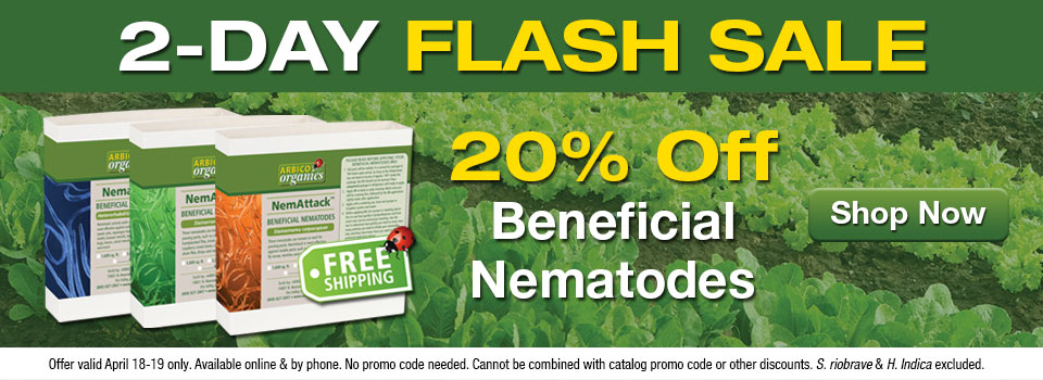 Save 20 Percent On Beneficial Nematodes
