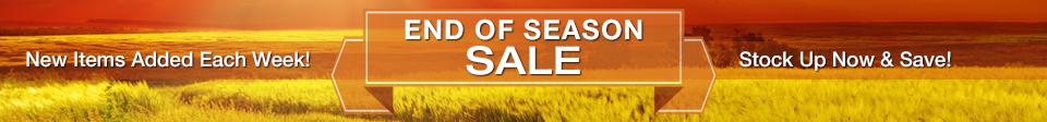 End of Season Sale Through September 30