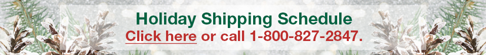 View 2018 Holiday Shipping Schedule