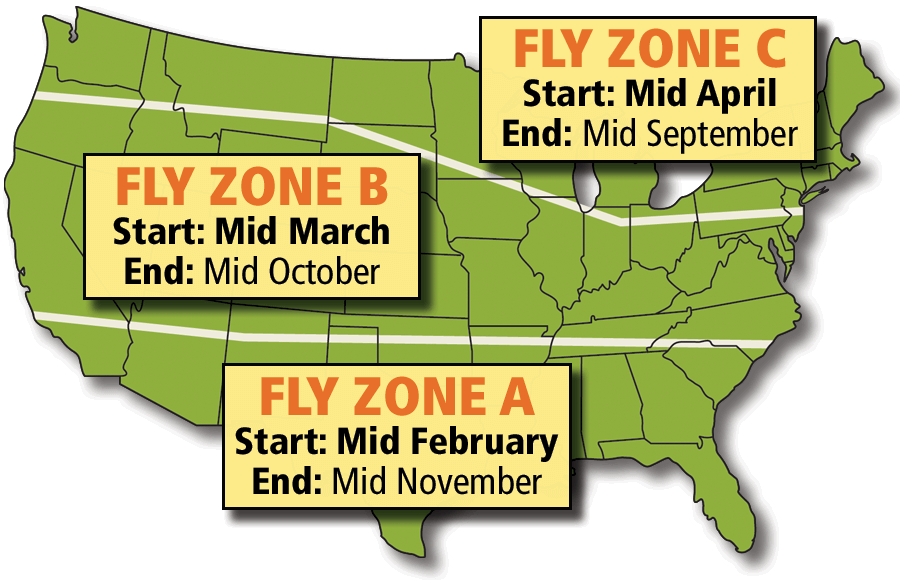 Fly Control Zone Map