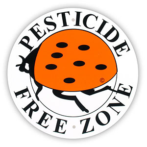 Pesticide Free Zone Sign