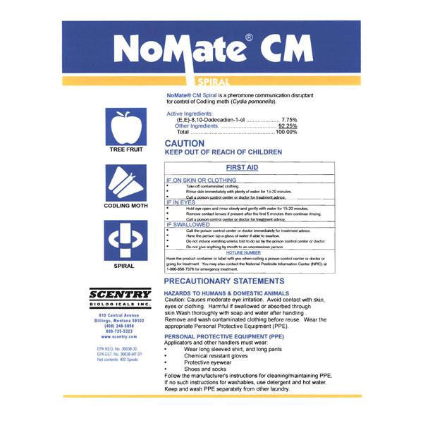 NoMate CM Spirals - 400 ct.