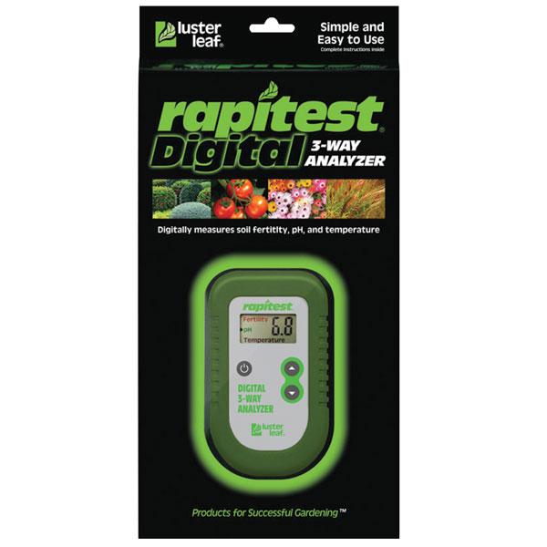 Luster Leaf® Rapitest® Digital 3-Way Analyzer