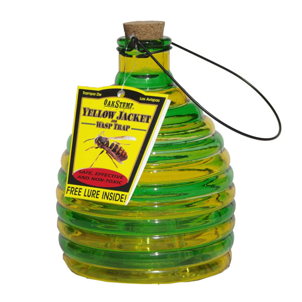 Glass Yellow Jacket & Wasp Trap with Lure