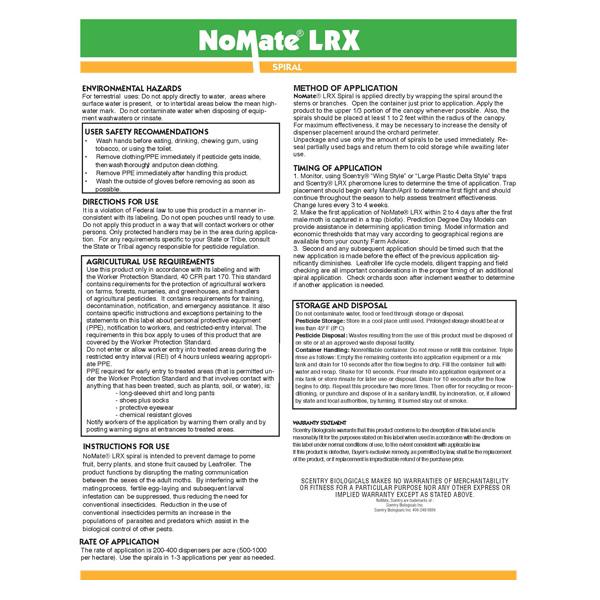 NoMate® LRX Spirals