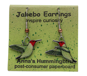 Anna's Hummingbird Jabebo Earrings